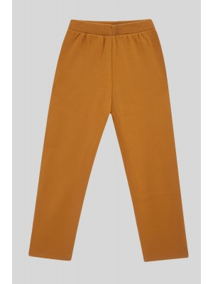 Knit Trousers With Slit Trousers -Snuff