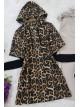 Hooded Knitwear Sleeve Sweat -Snuff