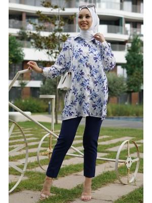 Digital Printed Shirt    -Saxe