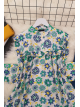 Printed Roba Frilly Tunic -Blue
