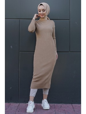 Triko Elbise  -Mink color