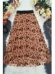 Tulle Printed Elastic Skirt -Salmon