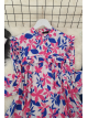 Printed Roba Frilly Tunic -Pink