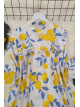 Printed Roba Frilly Tunic -Yellow
