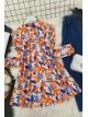 Printed Roba Frilly Tunic -Orange