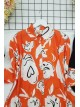 Digital Printed Shirt  -Orange