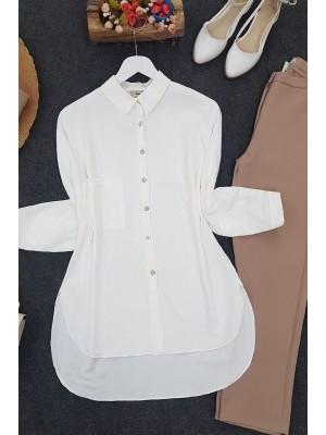 Pocket Ayrobin Shirt -Ecru
