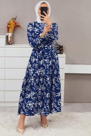 Yonca Desen Uzun Elbise -Laci