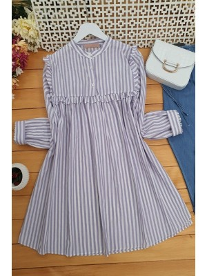 Frilly Tunic -Lilac
