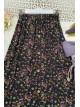 Button Front Skirt - Purple