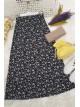Button Front Skirt -Ecru
