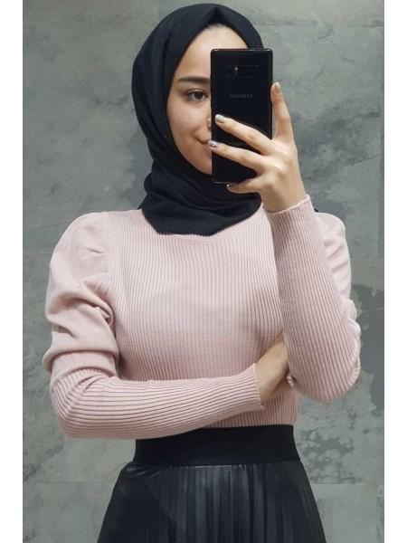 Balloon Sleeve Sweater -Powder