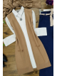 Double Pocket Vest    -Mink color