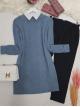 Hair Knit Knitwear Tunic  -Blue