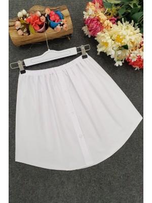 Gömlek Etek -Beyaz