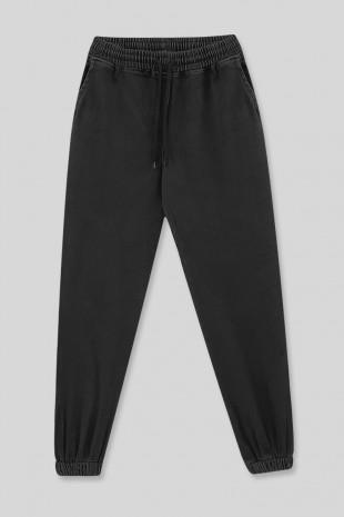 Beli Lastikli Kot Pantolon -Siyah