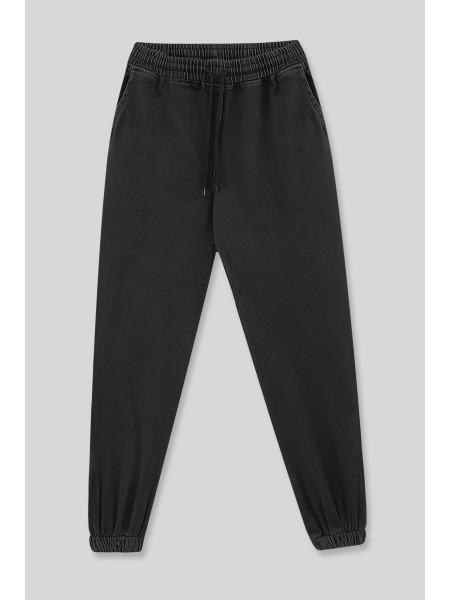 Elastic Waist Jeans -Black
