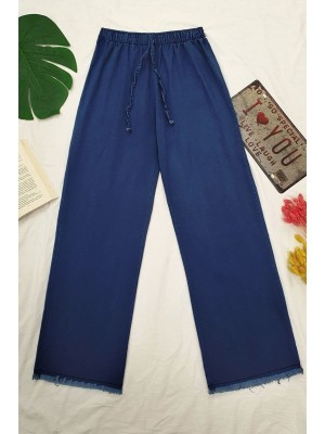 Tasseled Jeans -İndigo