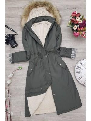 Plush Bondite Coat -Khaki