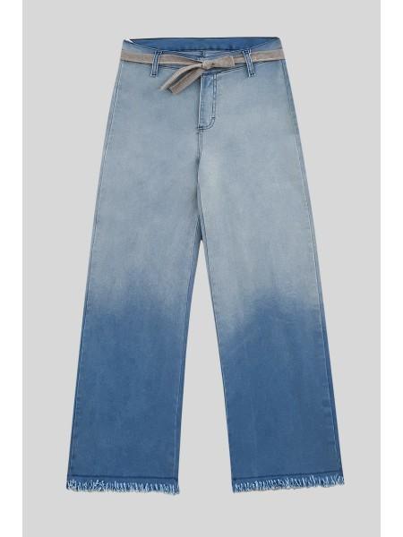 Tassel Fringed Jeans -Blue