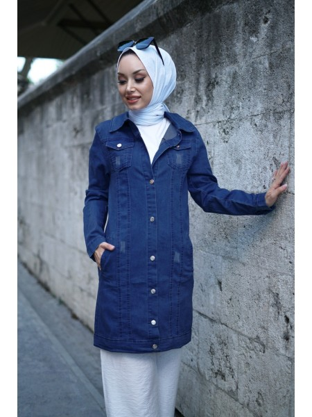 Denim Jacket  -Navy blue