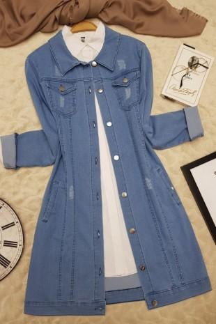 Kot Ceket  -Açık Mavi