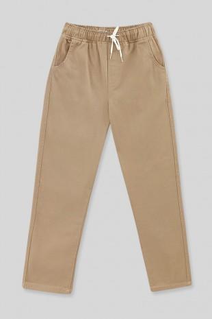 Beli Bağcıklı Kot Pantolon   -Taş