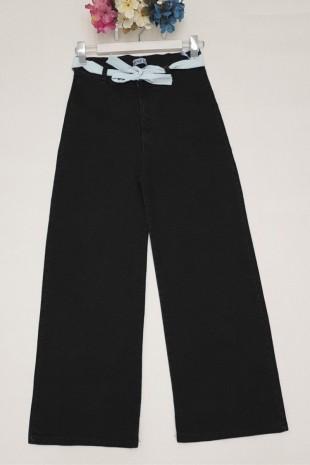 Likralı Salaş Pantolon  -Siyah