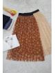 Elastic Waist Tulle Skirt  -Snuff