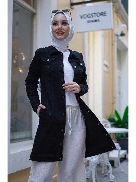 Denim Jacket  -Black