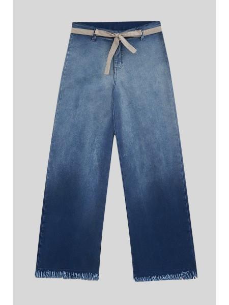 Tassel Fringed Jeans -Navy blue